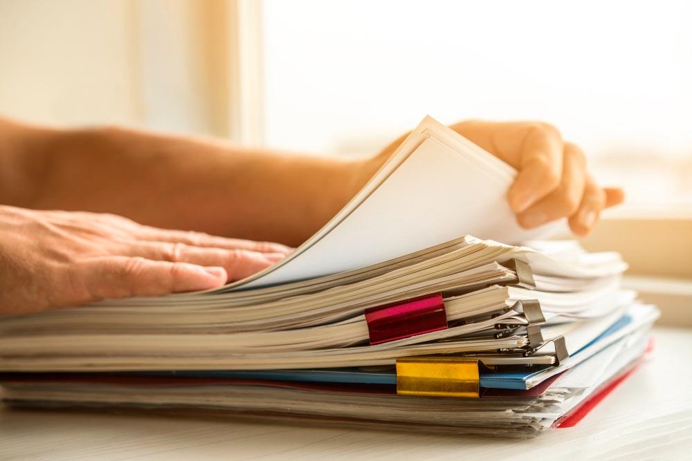 Préparation des documents pour réponse à appel d'offres